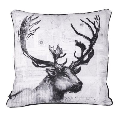 Rio Caribou Cotton Throw Pillow