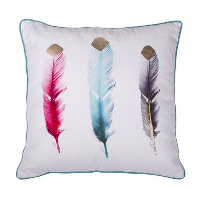 Feathers Cotton Throw Pillow