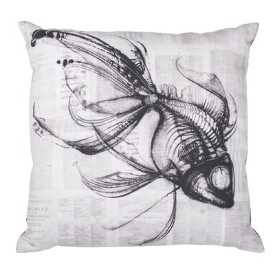 Rio Fish Cotton Throw Pillow