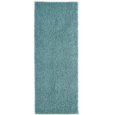 Shag-Ola Aqua Blue Area Rug Rug Size: Runner 2 x 8