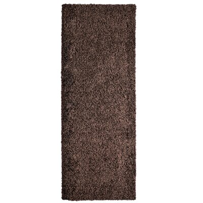 Shag-Ola Brown Area Rug Rug Size: Runner 2 x 8