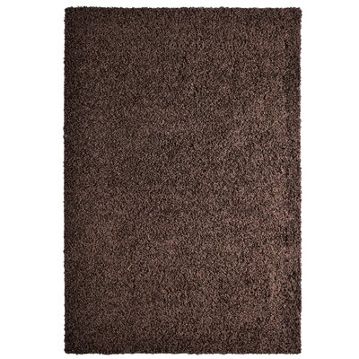 Shag-Ola Brown Area Rug Rug Size: 5 x 7