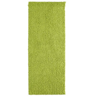 Shag-Ola Lime Green Area Rug Rug Size: Runner 2 x 8