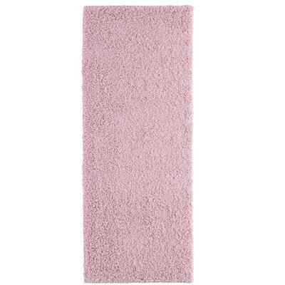 Shag-Ola Pink Area Rug Rug Size: Runner 2 x 8