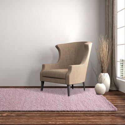 Shag-Ola Pink Area Rug Rug Size: 4 x 6