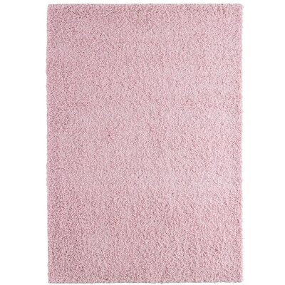 Shag-Ola Pink Area Rug Rug Size: 8 x 10