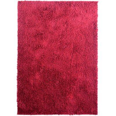 Herschel Shag Red Area Rug Rug Size: 7'6