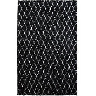 Elizabet Shag Black Area Rug Rug Size: 4 x 6
