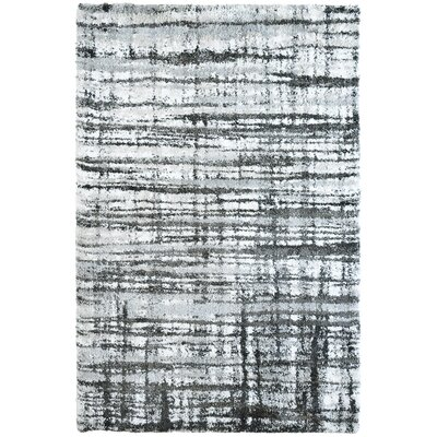 Menzies Stripes Gray Area Rug Rug Size: 53 x 76