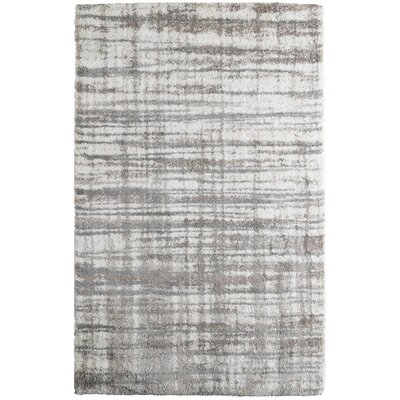 Menzies Stripes Cream Area Rug Rug Size: 53 x 76