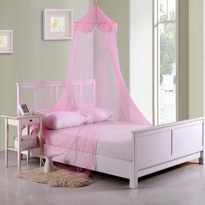 Pom Pom Kids Collapsible Hoop Sheer Bed Canopy Color: Pink