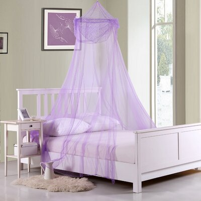 Raisinette Kids Collapsible Hoop Sheer Bed Canopy Color: Purple