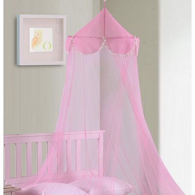 Pom Pom Kids Collapsible Hoop Sheer Bed Canopy
