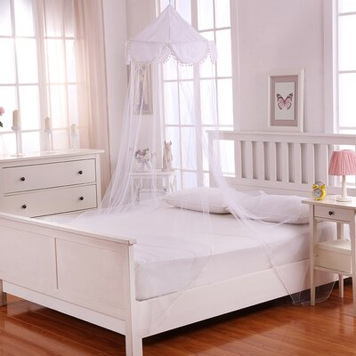 Pom Pom Kids Collapsible Hoop Sheer Bed Canopy Color: White