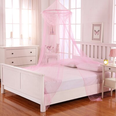 Raisinette Kids Collapsible Hoop Sheer Bed Canopy Color: Pink