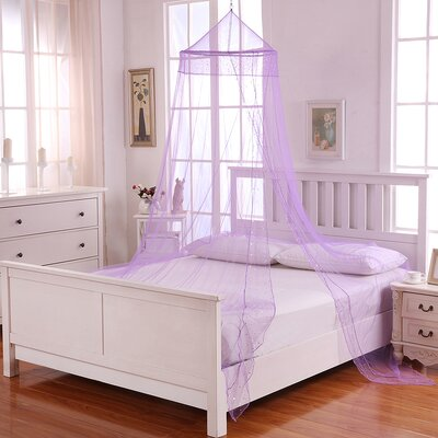 Galaxy Kids Collapsible Hoop Sheer Bed Canopy Color: Purple