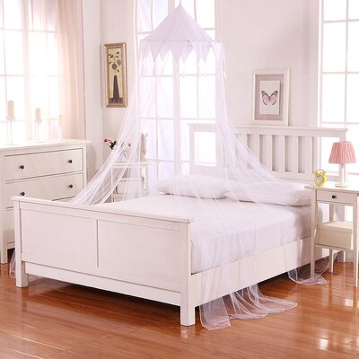 Harlequin Kids Collapsible Hoop Sheer Bed Canopy Color: White