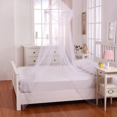 Raisinette Kids Collapsible Hoop Sheer Bed Canopy Color: White