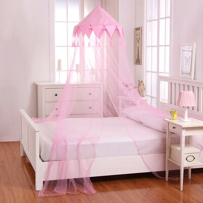 Harlequin Kids Collapsible Hoop Sheer Bed Canopy Color: Pink