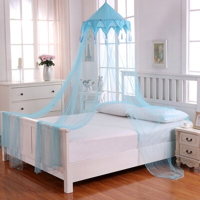Harlequin Kids Collapsible Hoop Sheer Bed Canopy Color: Blue