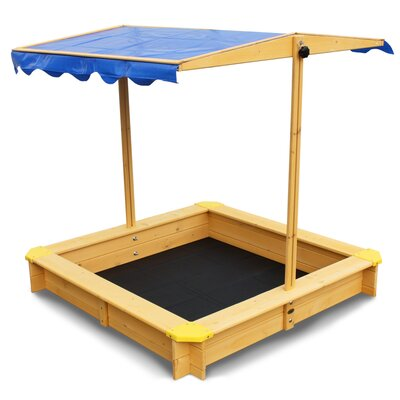 Sandkasten mit Schutzbezug   Kinderzimmer > Spielzeuge > Sandkästen   Brown   Holz - Lack - Kunststoff - Massivholz   Habau
