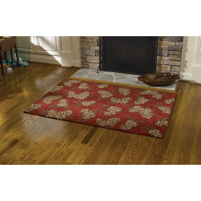 Pinecone Red Area Rug