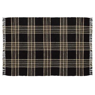 Rag Hand-Woven Black/Gray Area Rug