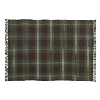 Rag Fly Fishing Hand-Woven Green/Black Area Rug