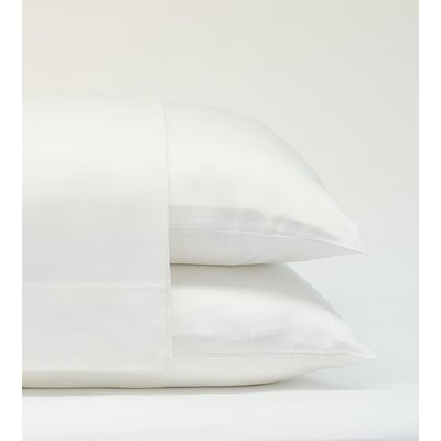 Classic Bamboo Rayon Standard Pillowcase Size: 20 H x 28 W, Color: White