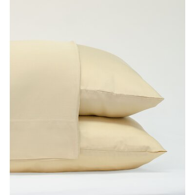 Classic Bamboo Rayon Standard Pillowcase Size: 20 H x 28 W, Color: Ivory