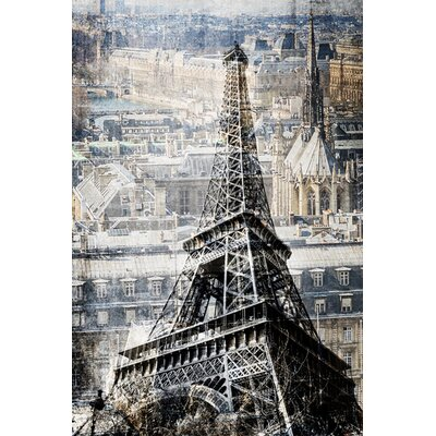 Paris By The Studio Graphic Art On Canvas