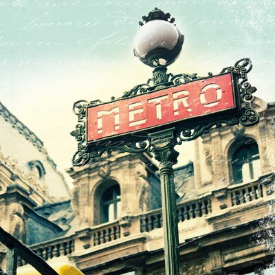 Paris Metro Letter By Sue Schlabach Photographic Print On Canvas