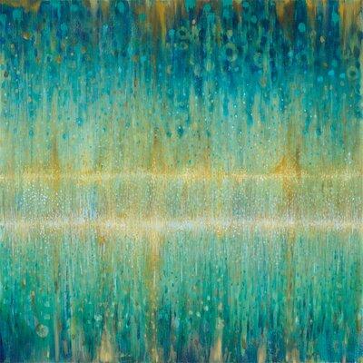 'Rain Abstract I' Painting Print on Canvas