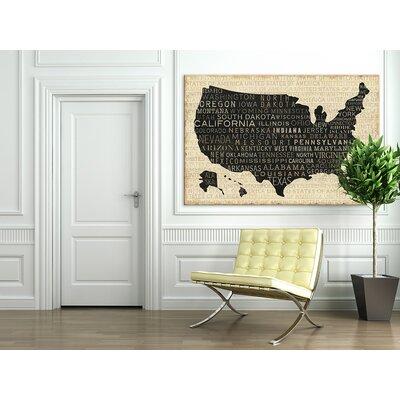'USA V' Painting Print on Canvas