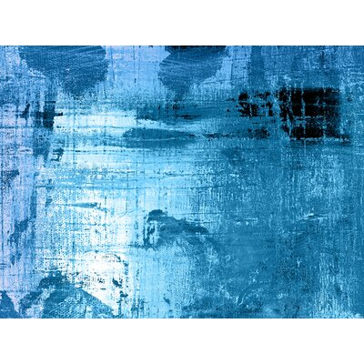 'Bleu' Painting Print on Canvas