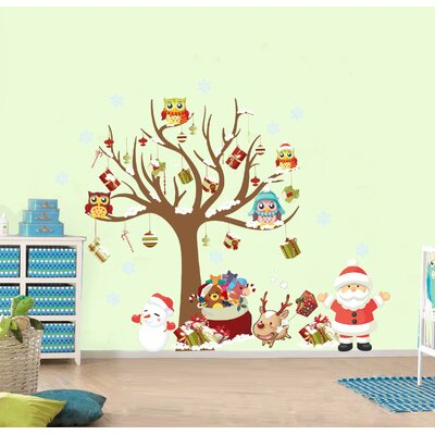 A Tree and It's Christmas Friends Wall Decal