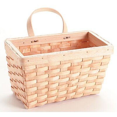 Woodchip Wall Rectangle Wood and Wicker/Rattan Basket