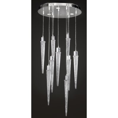 Ice 9-Light Waterfall Chandelier