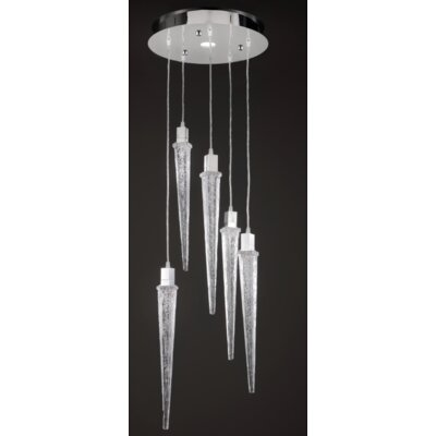 Ice 5-Light Waterfall Chandelier