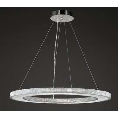 Ice Drum Chandelier Size: 20H X 32W X 32D