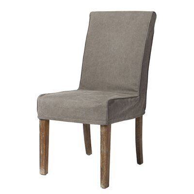 Boehmer Parsons Chair Upholstery: Grey