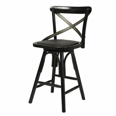 Lauritzen Bistro 24 Bar Stool Finish: Black