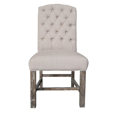 Boerner Side Chair Upholstery: Flax Linen