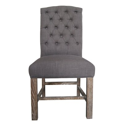 Boerner Side Chair Upholstery: Charcoal Grey
