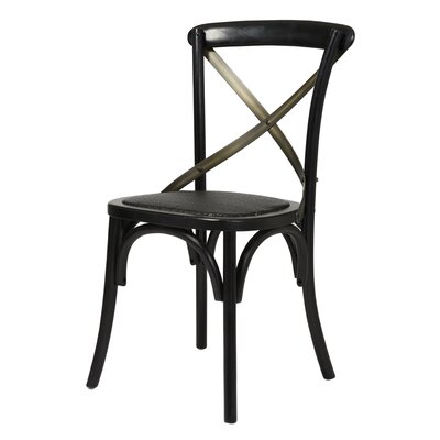 Leff Bistro Dining Chair Finish: Black