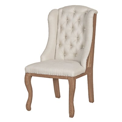 Summitville Wing back Chair Color: Light Oak Wood