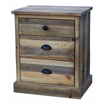 Worcester 3 Drawer Nightstand