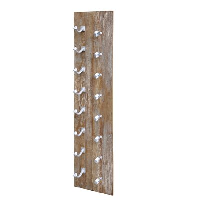 Yuba City 8 Bottle Wall Mounted Wine Rack