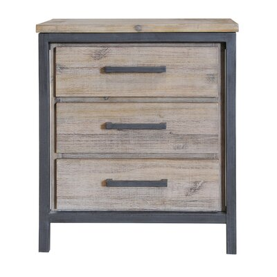 Mitt 3 Drawer Nightstand