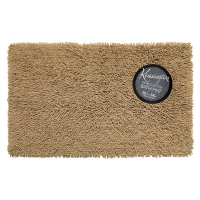 Shaggy Cotton Chenille Bath Rug Color: Linen